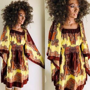 Dresses & Skirts - Vintage 70's Angel Sleeve SCARF Caftan DRESS O/S